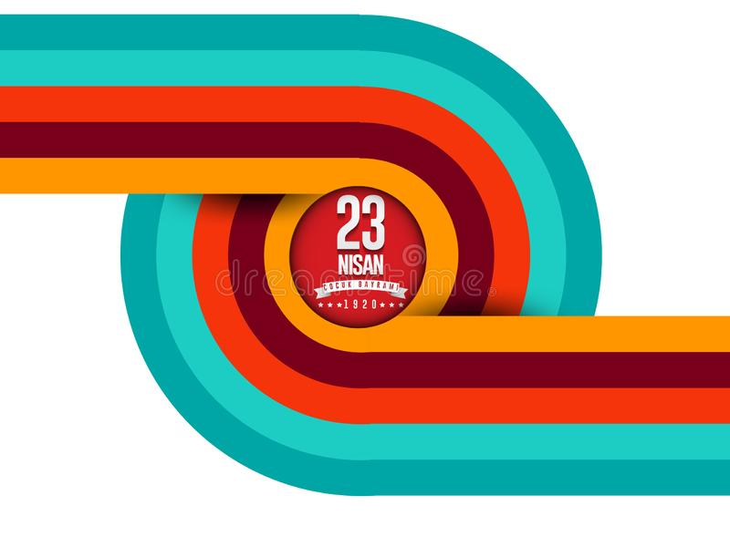 Vector Illustration des nisan cocuk baryrami 23, ?bersetzung: Das T?rkische-am 23. April nationales Souver?nit?t und Kinder` s Ta lizenzfreie abbildung