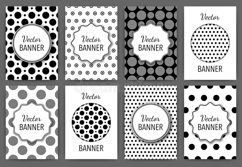 Vector illustration design invitations. Black and white templates vector illustration