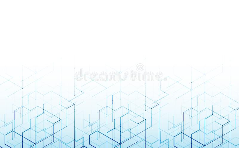Vector illustration. Digital technology and engineering background. stock illustration