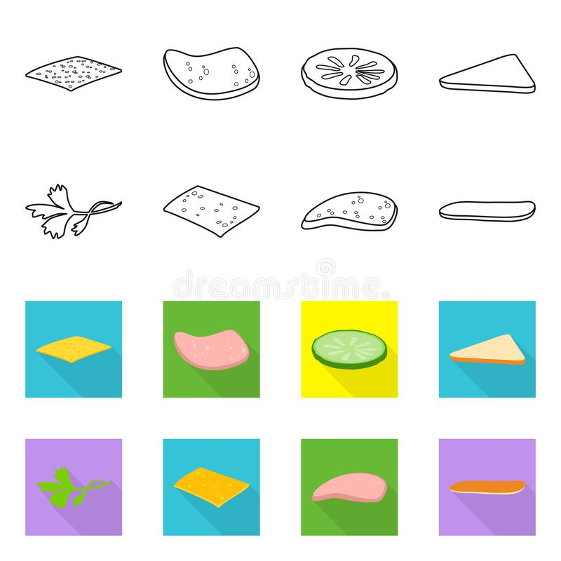 Vegan Burger Logo Collection: Icon Of Burger With Salad With Cheese And Cutlet On A