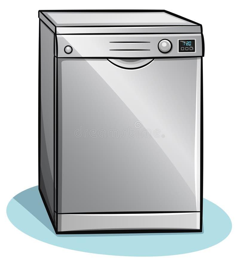Vector dishwasher on white background royalty free stock photography