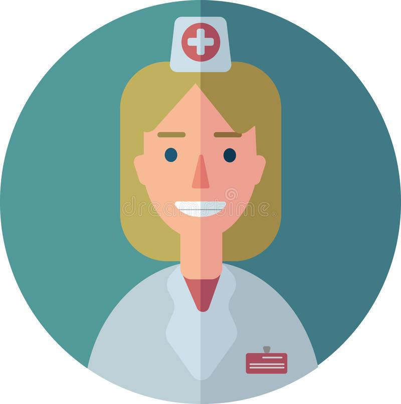 Vector illustration of a doctor royalty free stock images