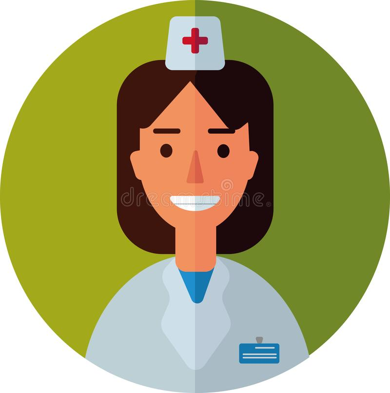 Vector illustration of a doctor stock photography