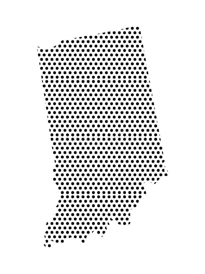 Dotted Pattern Map of US State of Indiana. Vector illustration of the Dotted Pattern Map of US State of Indiana royalty free illustration