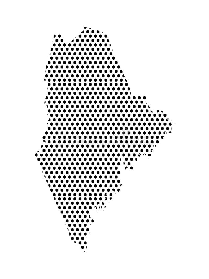 Dotted Pattern Map of US State of Maine. Vector illustration of the Dotted Pattern Map of US State of Maine vector illustration