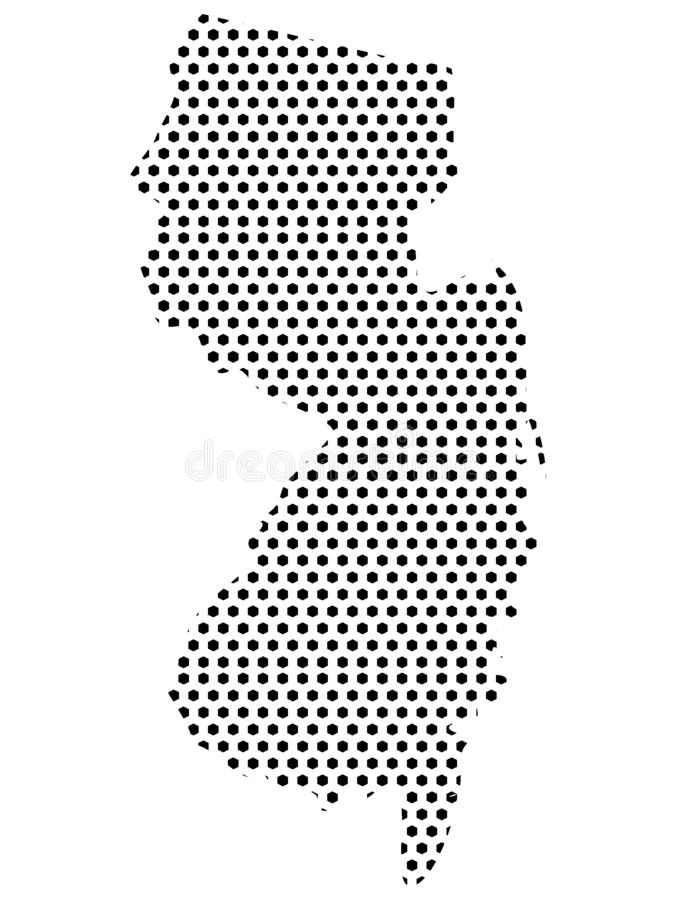Dotted Pattern Map of US State of New Jersey. Vector illustration of the Dotted Pattern Map of US State of New Jersey royalty free illustration