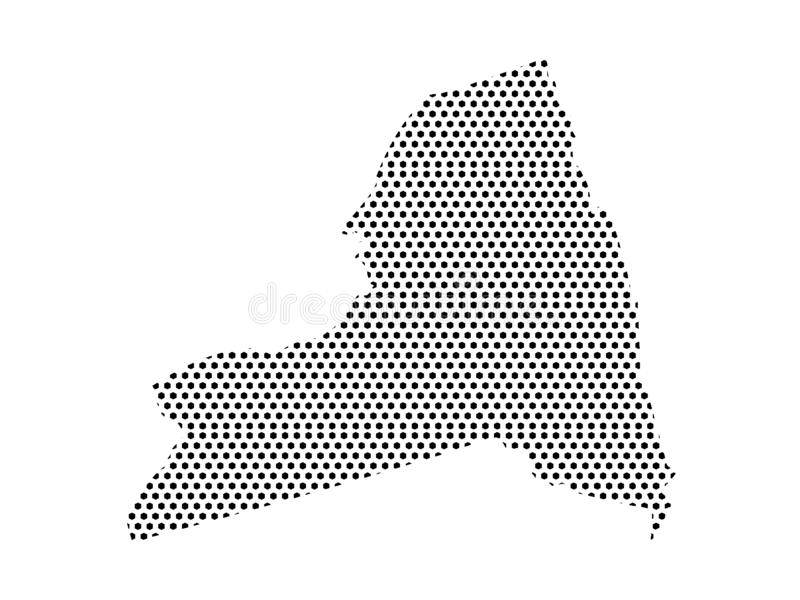 Dotted Pattern Map of US State of New York without NYC. Vector illustration of the Dotted Pattern Map of US State of New York without NYC stock illustration