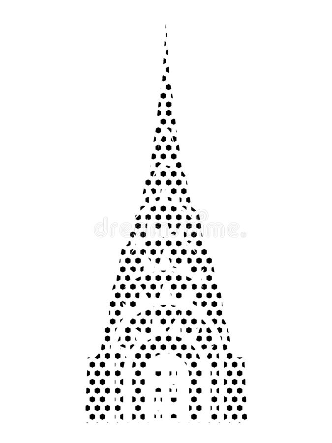 Dotted Pattern Picture of the Chrysler Building. Vector illustration of the Dotted Pattern Picture of the Chrysler Building royalty free illustration