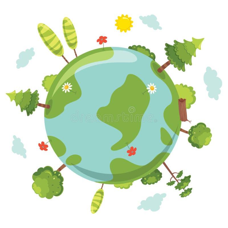 Vector Illustration Of Earth Day stock illustration