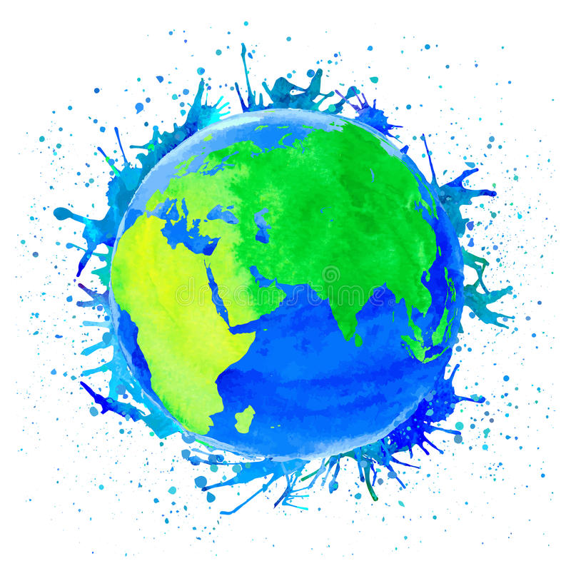 Vector illustration of Earth stock photo