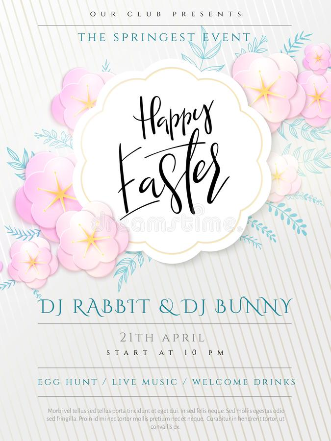 Easter Egg And Apple Flowers Stock Image - Illustration of flourish