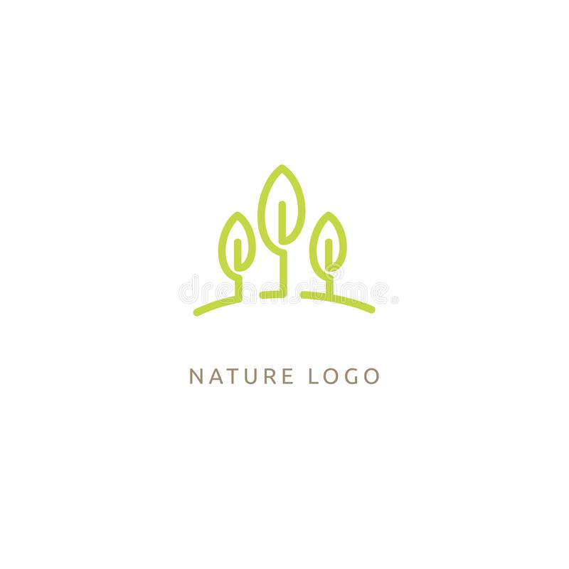 Abstract tree logo icon vector design. Landscape design, garden, Plant, nature and ecology, Environmental protection, ecology, Bot stock illustration
