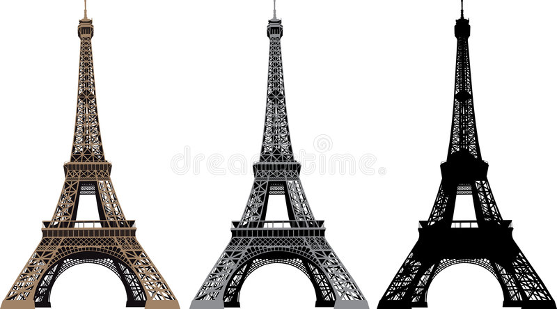 Vector illustration of Eiffel Tower stock illustration