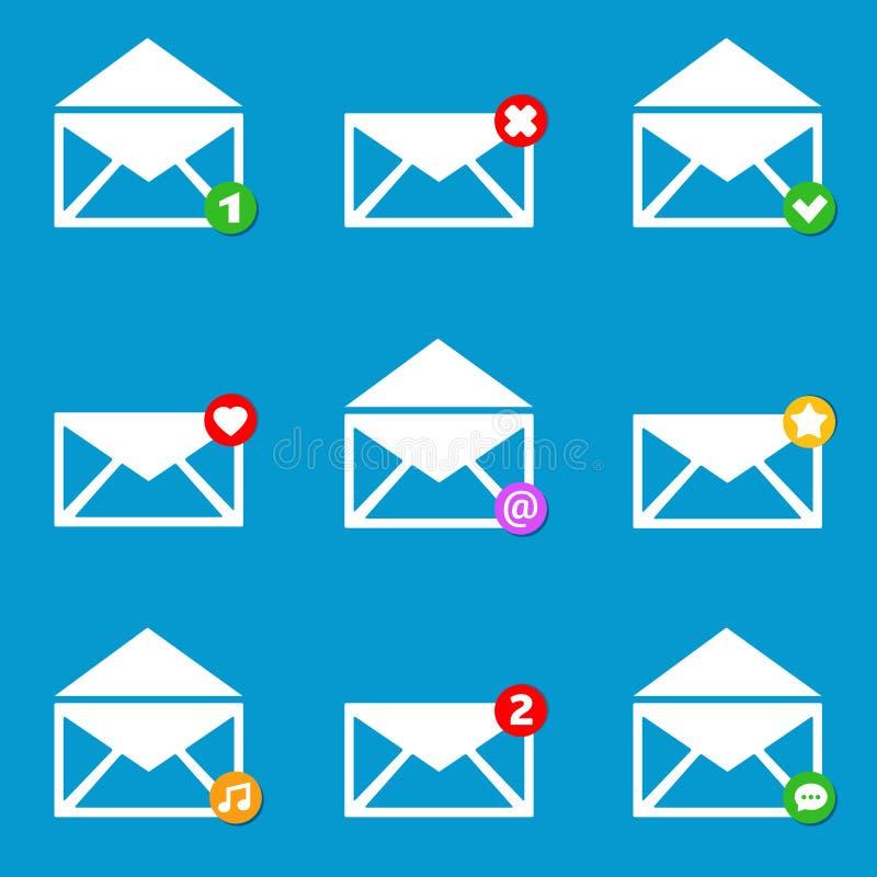 Vector illustration Email mailbox icons set stock illustration