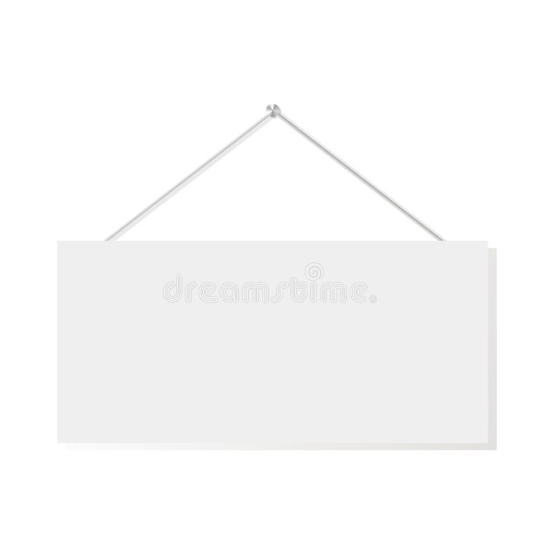 Vector illustration empty banner or signboard white banner empty board. EPS 10 royalty free illustration