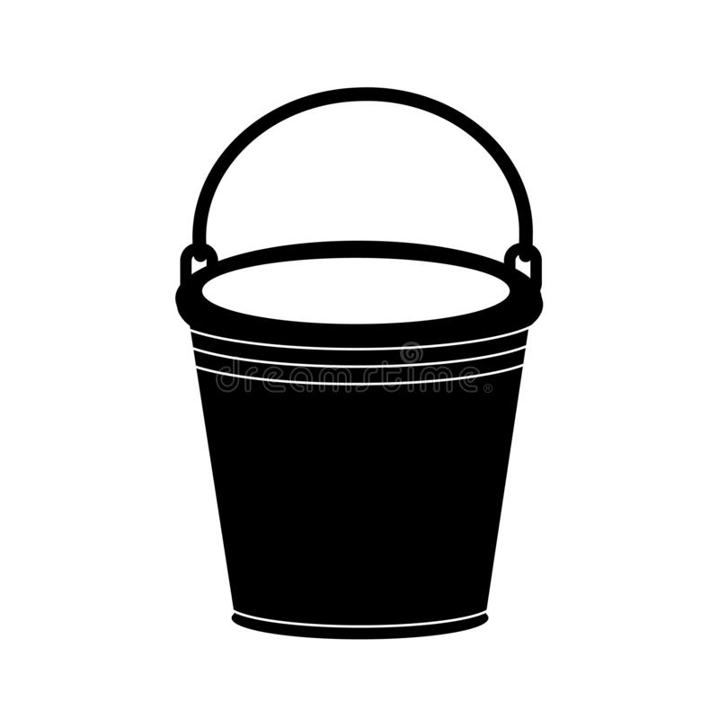 Vector illustration of an empty bucket in a simple style vector illustration