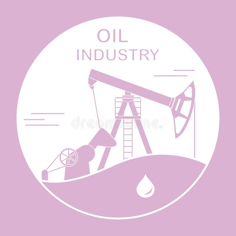 Oil industry equipment Pumpjack Vector. Vector illustration with equipment for oil production. Oil industry. Working oil pump vector illustration