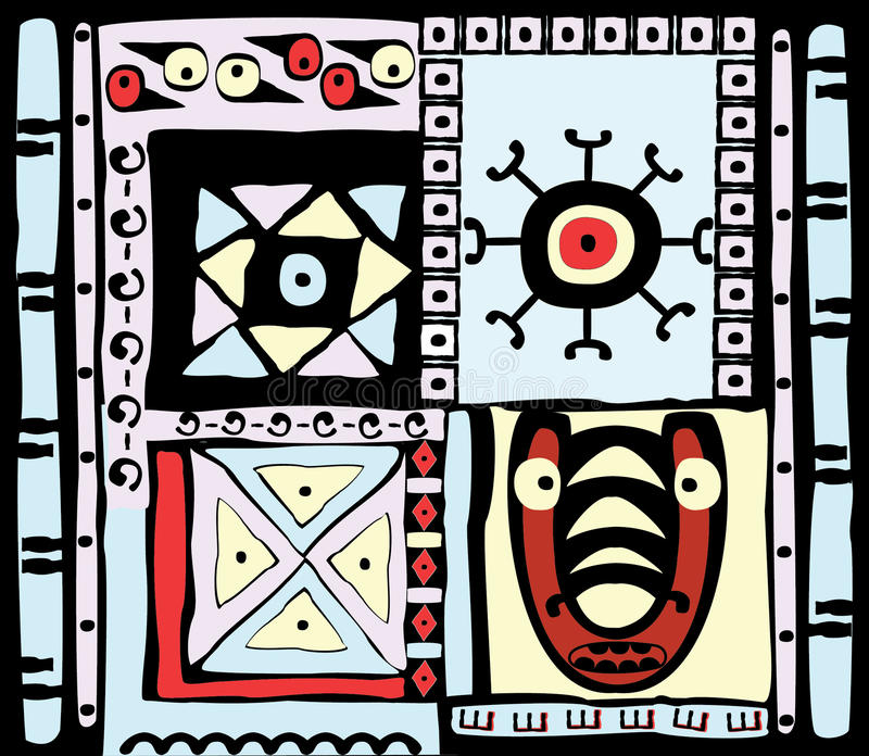 Vector illustration of ethnic patterns vector illustration
