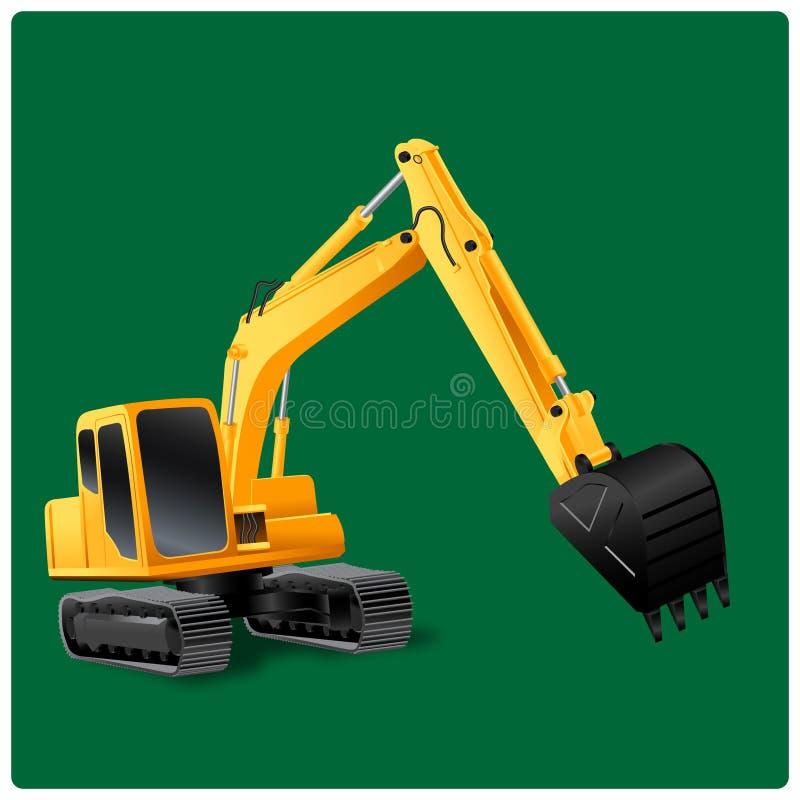 Vector illustration of excavator royalty free stock photos