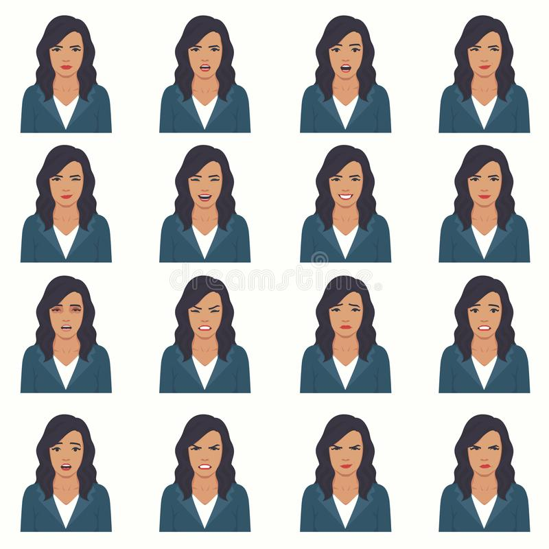 Vector illustration of a face expressions vector illustration