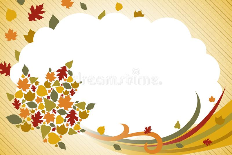 Fall Autumn Background Illustration. A vector illustration of Fall Autumn Background royalty free illustration