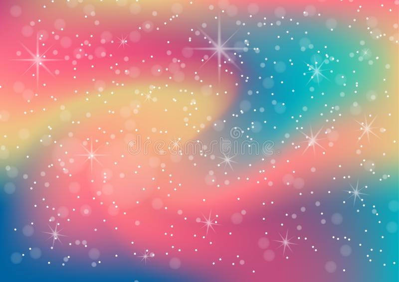 Vector illustration of fantastic colorful galaxy,Abstract cosmic stock illustration