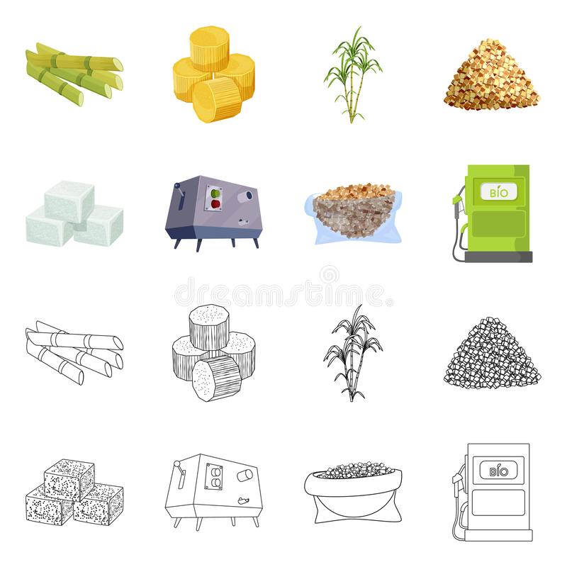 Vector design of farm and agriculture  icon. Set of farm and technology stock symbol for web. Vector illustration of farm and agriculture  symbol. Collection of stock illustration