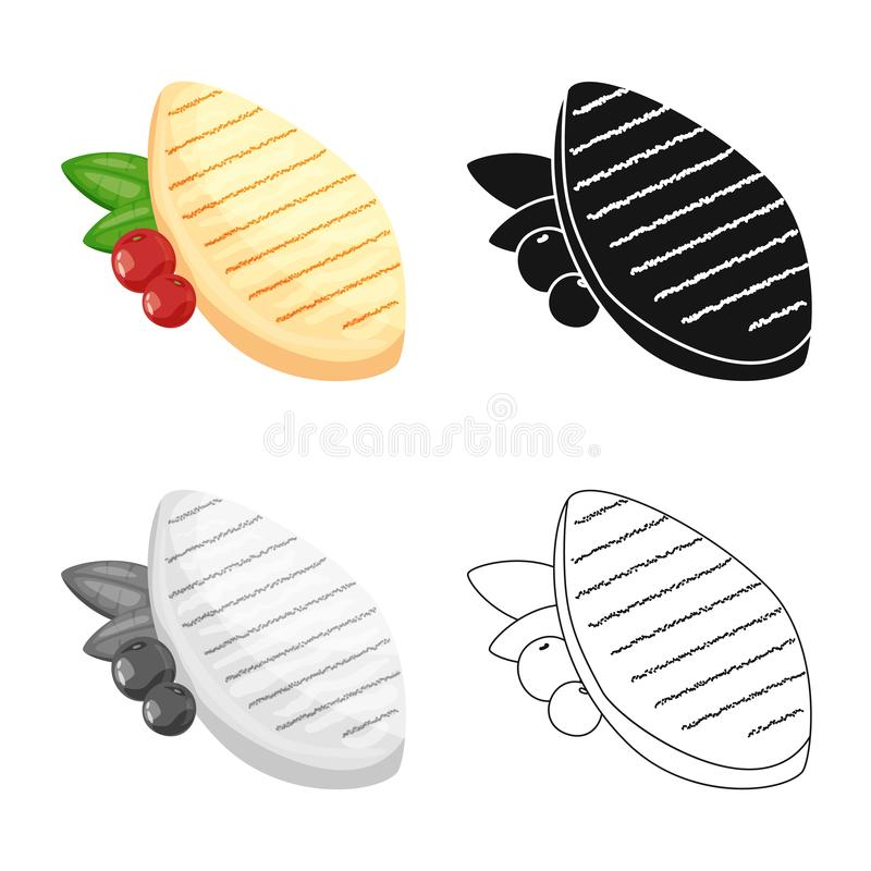 Vector illustration of filet  and chicken logo. Collection of filet  and hot vector icon for stock. vector illustration