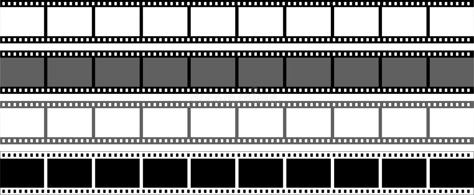 film strip on white background stock vector illustration of artistic clip 117192841 film strip on white background stock