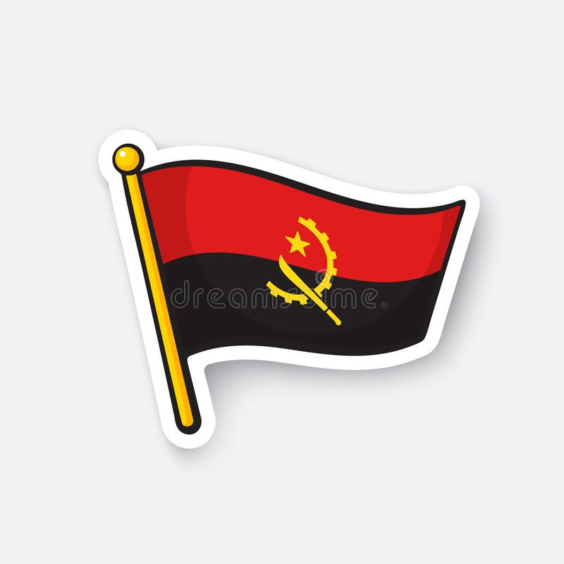 Download sticker flag of angola stock vector illustration of holiday 104657415