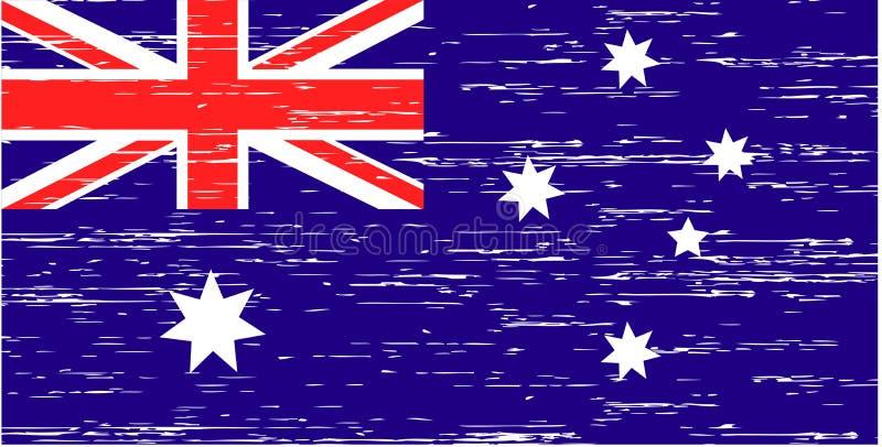 Vector illustration Flag Australia colorful EPS 10 Flat design royalty free illustration