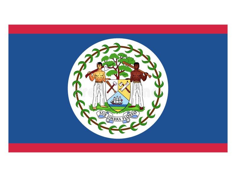 Flag of Belize. Vector illustration of the Flag of Belize stock illustration