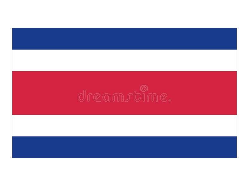 Flag of Costa Rica royalty free illustration