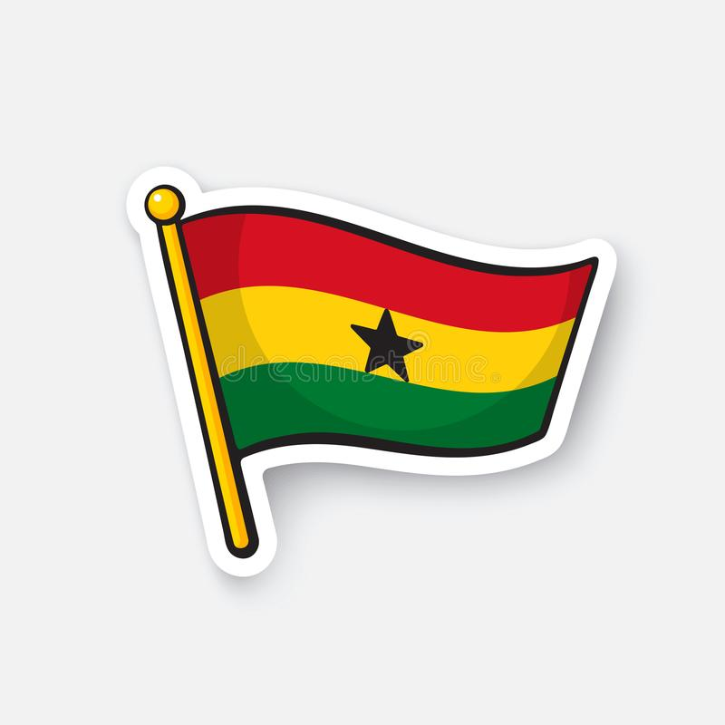 Download sticker flag of ghana stock vector illustration of country 105622099