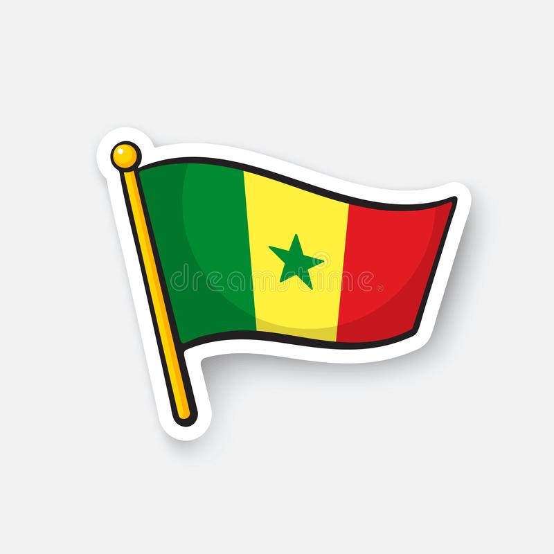 Download sticker flag of senegal stock vector illustration of country 105621955