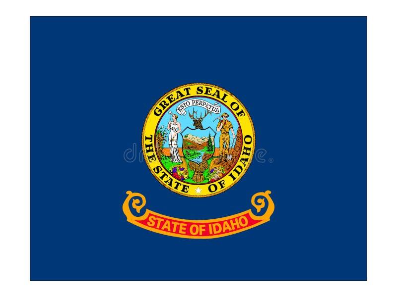 Flag of USA State of Idaho vector illustration