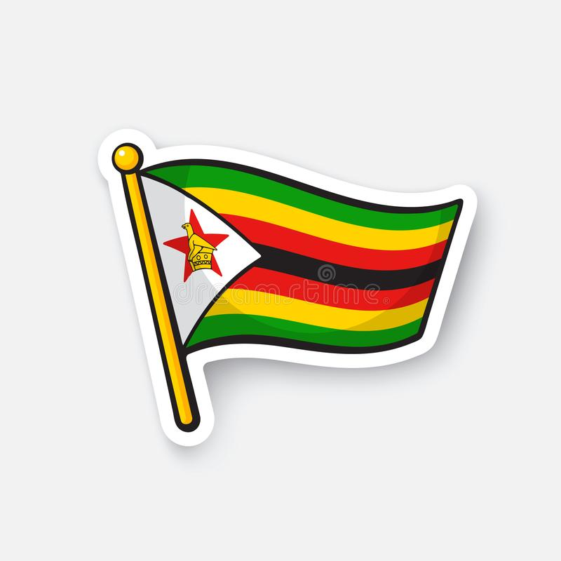Download sticker flag of zimbabwe stock vector illustration of patriotic 104144173