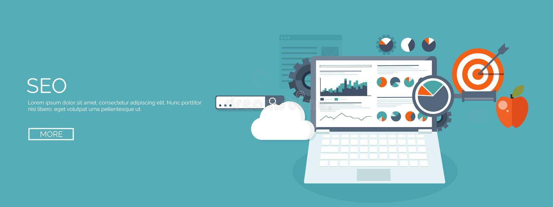 Vector illustration. Flat background. Coding programming SEO. Search engine optimisation. App development creation royalty free illustration