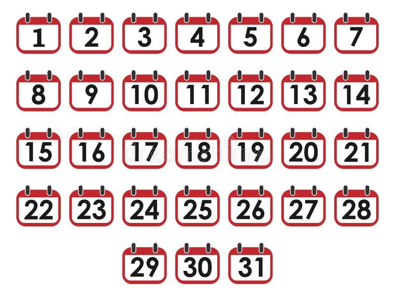 Number Set Vector Flat Design Stock Vector - Illustration of