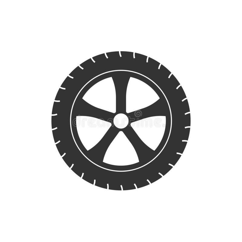 Transport tire icon. Vector illustration, flat design. Vector illustration, flat design. Transport tire icon royalty free illustration