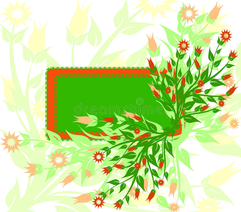 vector illustration of floral background royalty free stock photography