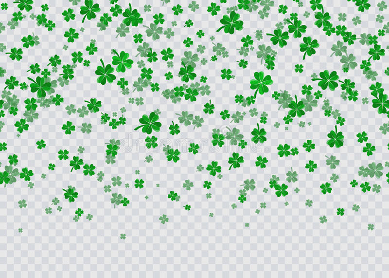 Vector illustration of floral seamless border with four leaved green clover. Vector illustration of floral seamless border background with four leaved green vector illustration