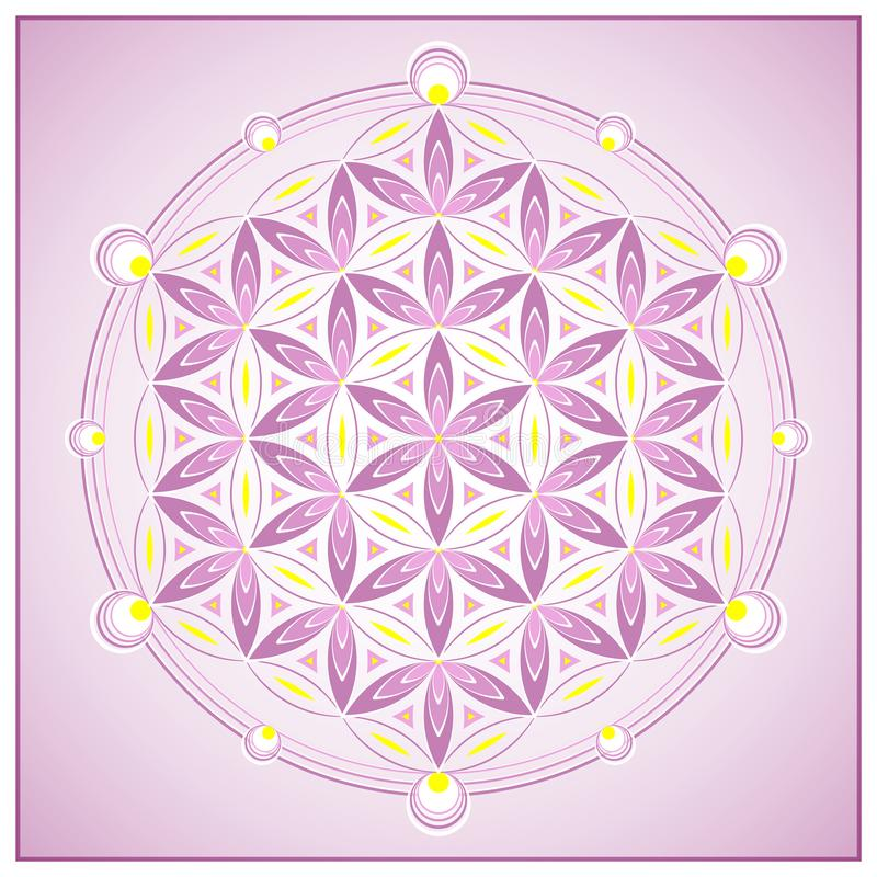 Vector Illustration. Flower of Life. vector illustration