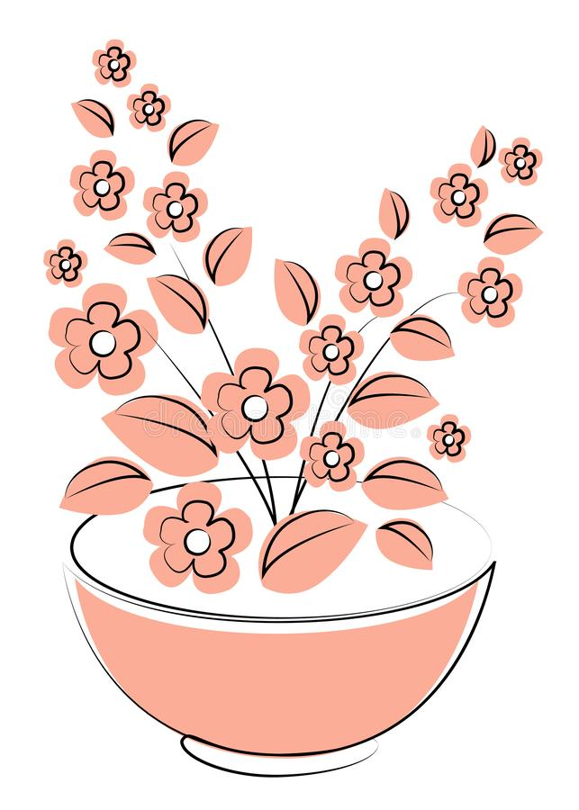 Vector illustration flower, plant growing in a pot. Potted plant icon. Little plant seedling. Seedling icon stock illustration