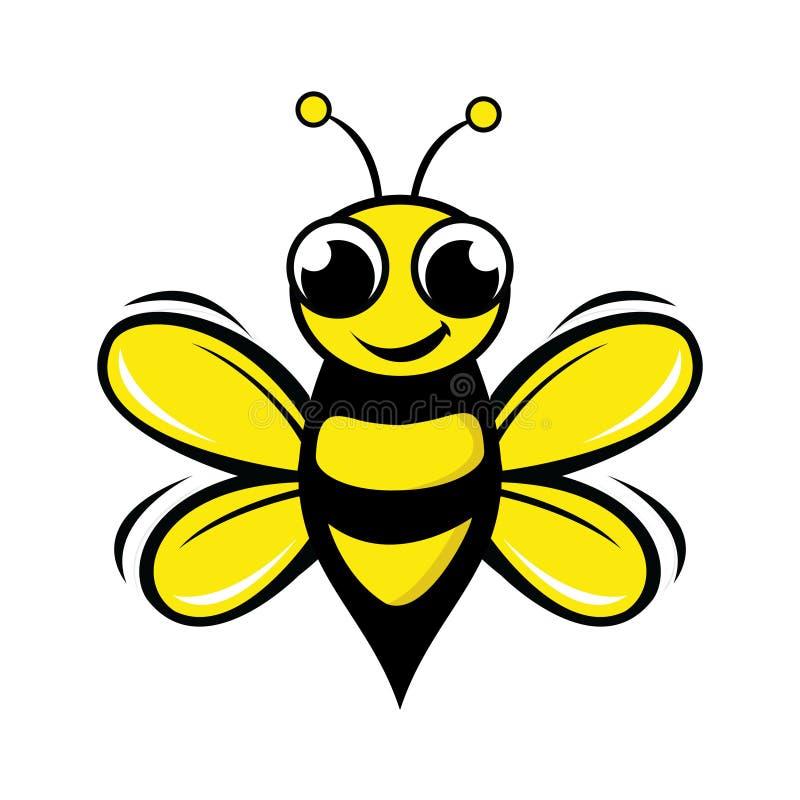 Honey bee design. Vector illustration flying bee in flat style vector illustration