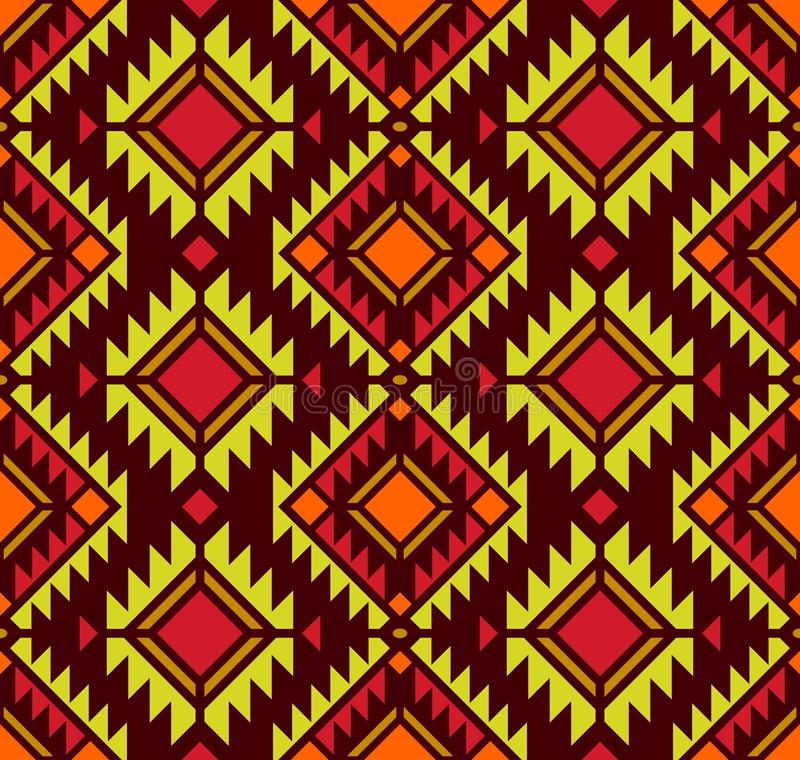 American pattern. Geometric seamless ornament. stock illustration