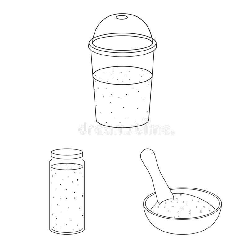Vector illustration of food and vegan icon. Collection of food and weed stock symbol for web. Isolated object of food and vegan symbol. Set of food and weed royalty free illustration