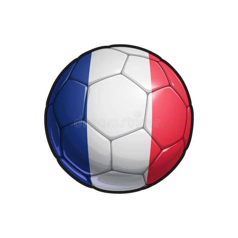 French Flag Football - Soccer Ball vector illustration