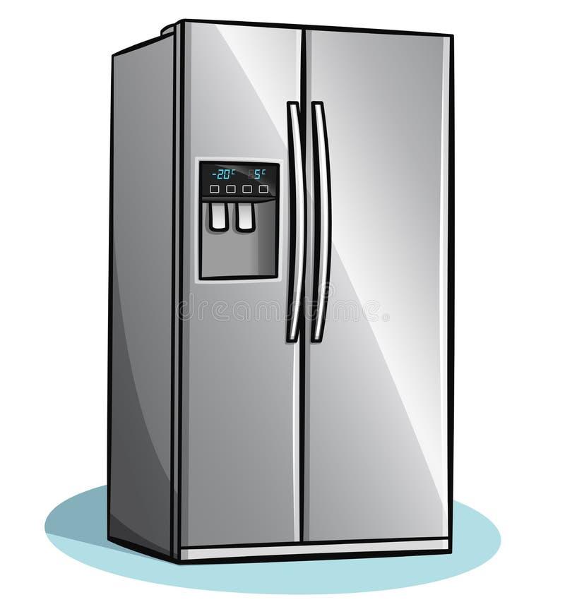 Vector fridge on white background stock photo