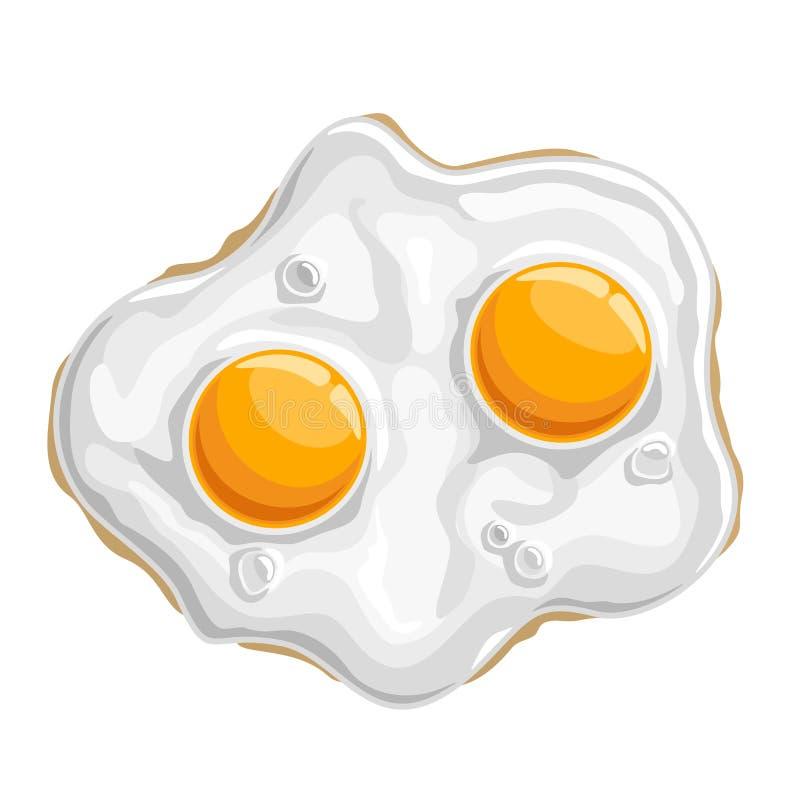 Vector illustration Fried chicken Egg vector illustration